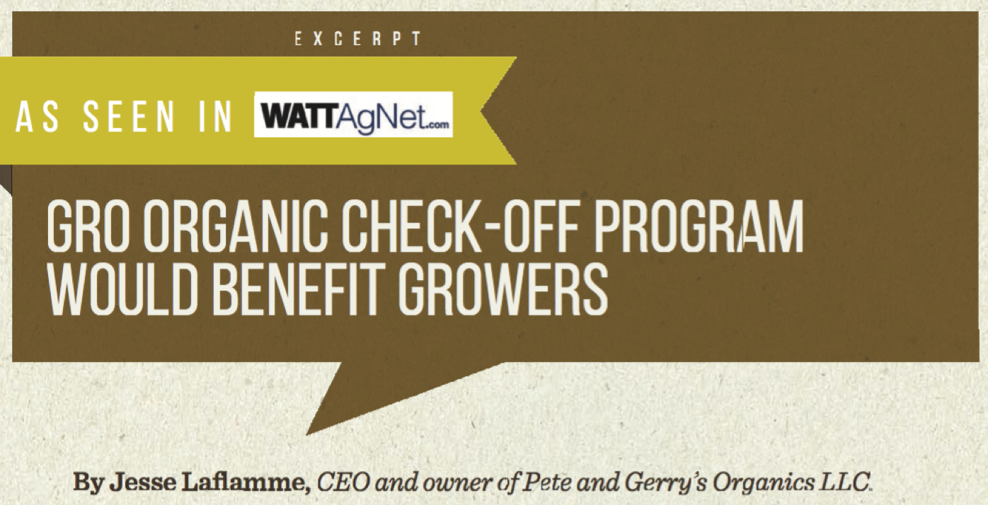 GRO Organic Check-off Program would benefit growers